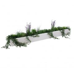 Enjoyplanter 200x30x20 cm. Velvet wit