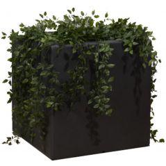 Enjoyplanter Polyester plantenbak Velvet 50x50x50 cm | Antraciet-zwart