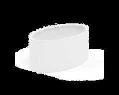 Polyester plantenbak Serenti 115x80x60 cm   Zuiver wit