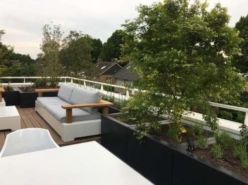 Polyester plantenbakken 100x100x60 cm.