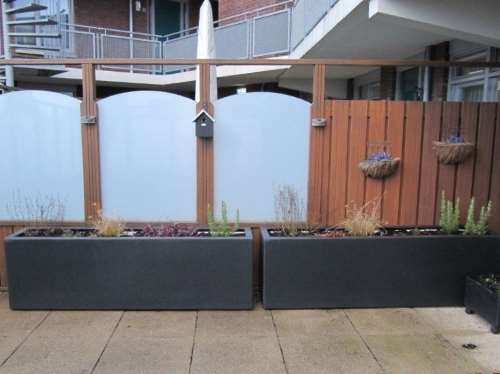 Polyester plantenbakken 200x50x60 cm.