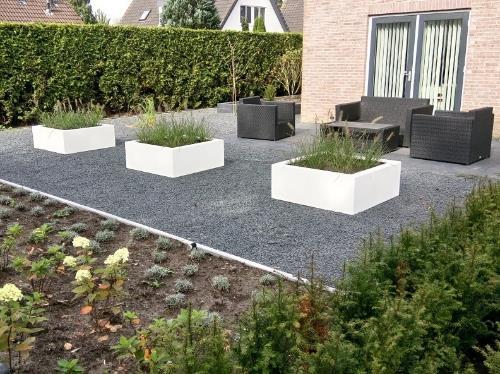Polyester plantenbakken 120x120x40 cm zuiver wit (ral 9010)