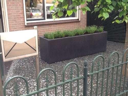 Polyester plantenbak 200x50x60 cm.