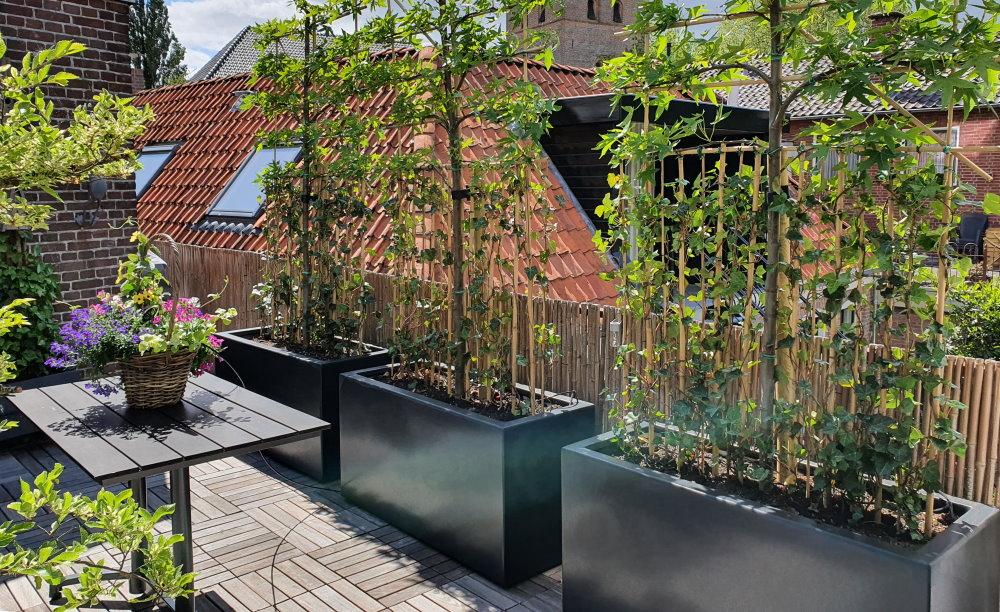 Maatwerk plantenbakken met verzonken wielen - verrijdbaar