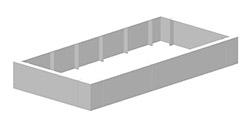 Polyester modulaire plantenbak als moestuinbak