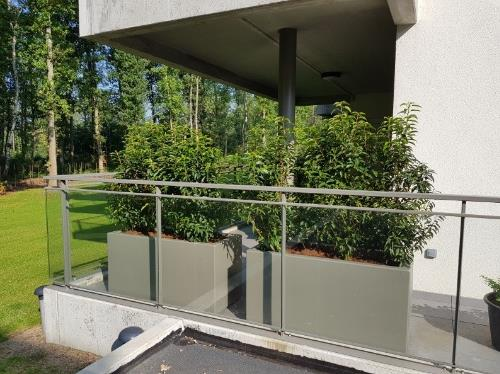 Polyester plantenbakken 120x50x60 cm in ral 7039