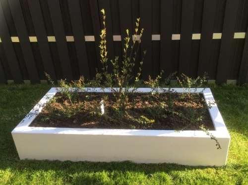 Polyester plantenbak 180x88x32 cm zuiver wit (ral 9010)
