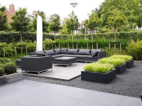 Polyester plantenbakken 100x100x40 cm.