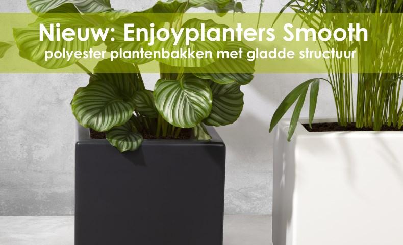 Polyester plantenbakken met gladde afwerking