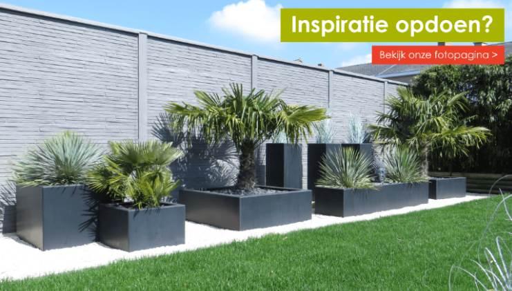 Doe inspiratie op en bekijk de polyesterplantenbakken van www.polyesterplantenbakken.nl bij onze klanten thuis