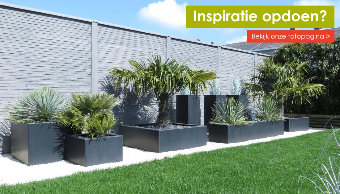 fotopagina polyester plantenbakken