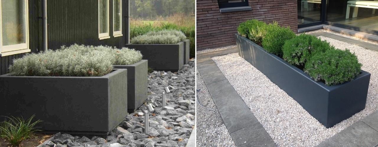 Rechthoekige of vierkante plastic plantenbakken