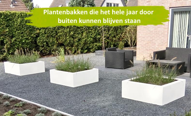 Vorstbestendige polyester plantenbakken geschikt voor alle soorten planten